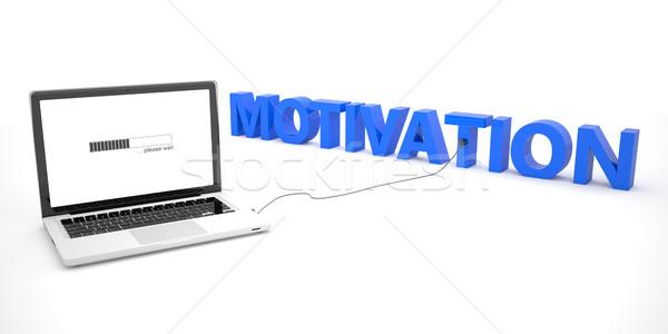 Motivatie laptop notebook computer woord witte Stockfoto © Mazirama