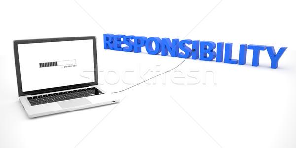 ответственность ноутбука ноутбук компьютер слово белый Сток-фото © Mazirama