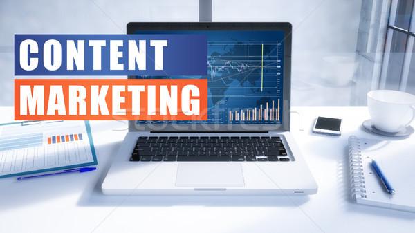 商業照片: 內容 · 市場營銷 · 文本 · 現代 · 筆記本電腦 · 屏幕