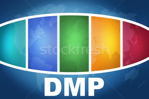 Deuda gestión plan texto ilustración azul Foto stock © Mazirama