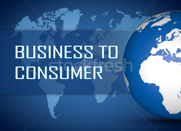 Affaires consommateur monde bleu carte du monde internet Photo stock © Mazirama