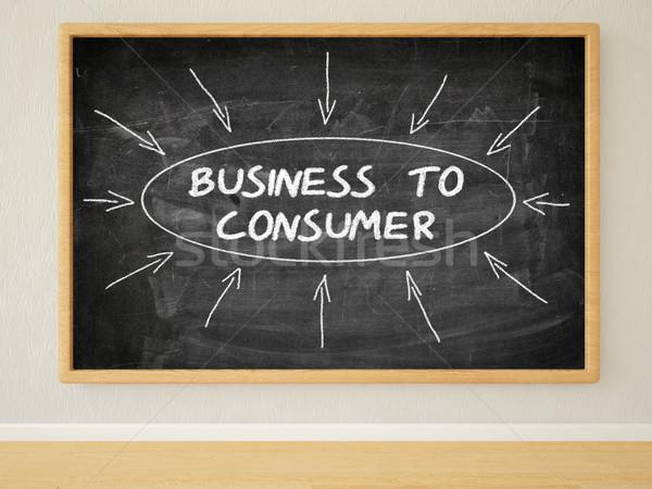 Business consumatore rendering 3d illustrazione testo nero Foto d'archivio © Mazirama