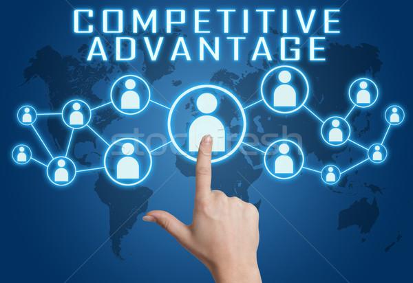 Competitivo ventaja mano social iconos Foto stock © Mazirama