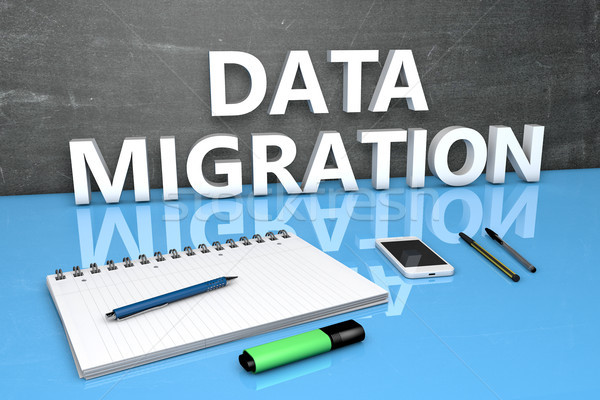 Data Migration text concept Stock photo © Mazirama