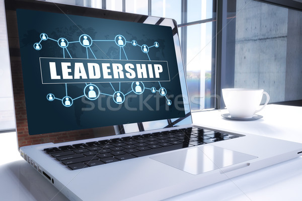 リーダーシップ 文字 現代 ノートパソコン 画面 オフィス ストックフォト © Mazirama