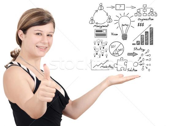 Business Idee business woman vorliegenden Stock foto © Mazirama