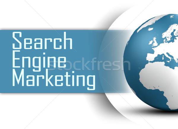 Keresőmotor marketing földgömb fehér siker cél Stock fotó © Mazirama