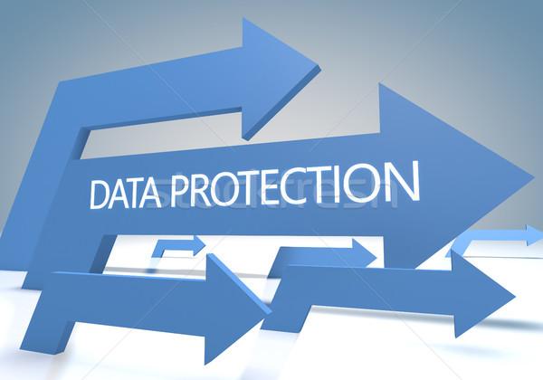データ保護 3dのレンダリング 青 コンピュータ 背景 ストックフォト © Mazirama