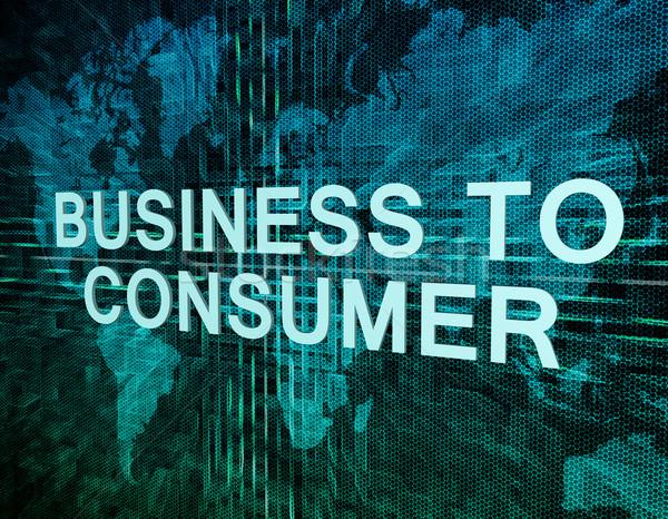üzlet fogyasztó szöveg zöld digitális világtérkép Stock fotó © Mazirama