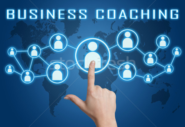 ビジネス コーチング 手 社会 アイコン ストックフォト © Mazirama