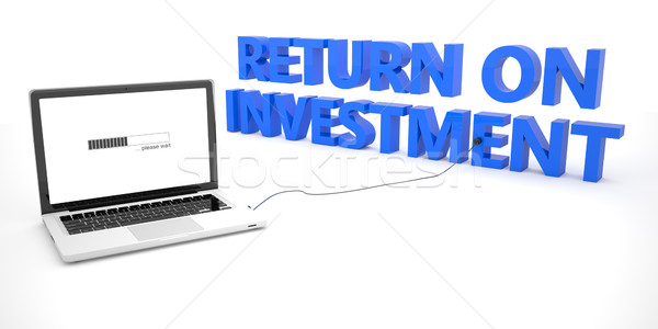 возврат инвестиции ноутбука ноутбук компьютер слово Сток-фото © Mazirama