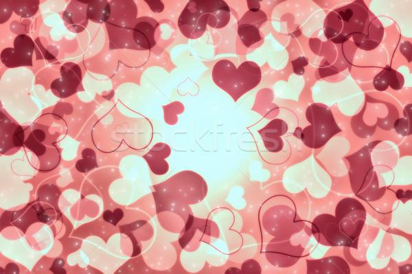 バレンタインデー カード 心 星 愛 カップル ストックフォト © Mazirama