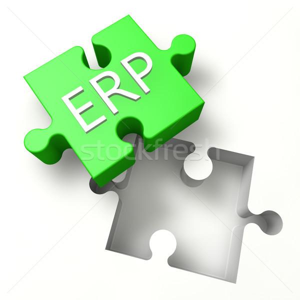Puzzle ERP Stock photo © Mazirama