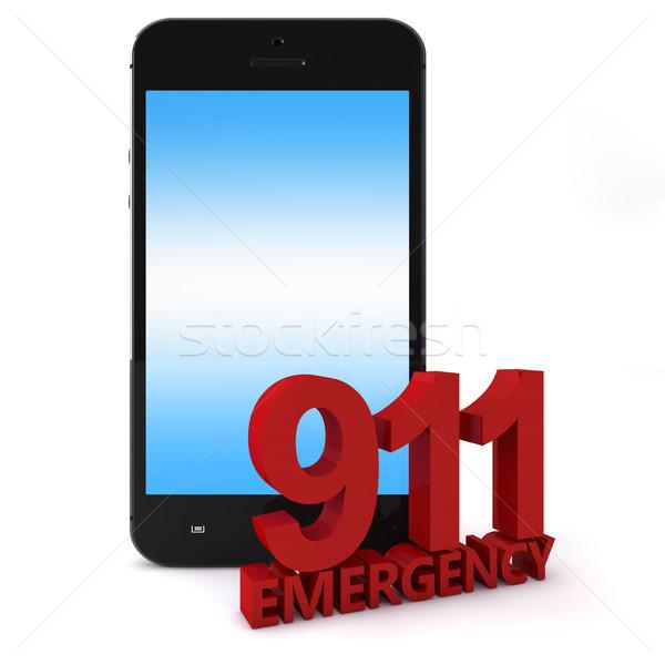 911 Phone Stock photo © Mazirama