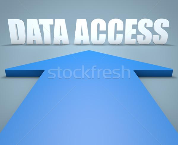 データ アクセス 3dのレンダリング 青 矢印 ポインティング ストックフォト © Mazirama