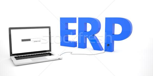 Empresa recurso planejamento laptop caderno computador Foto stock © Mazirama