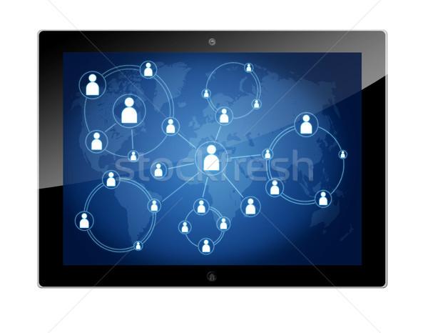 Tablet schema connessione tecnologia Foto d'archivio © Mazirama