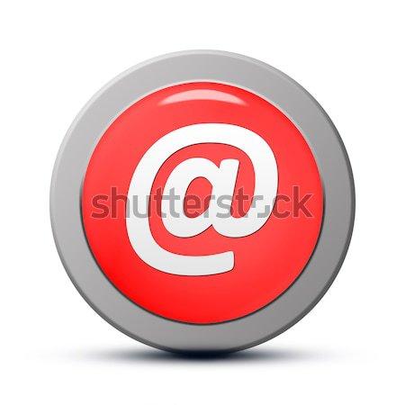 электронная почта адрес икона красный кнопки бизнеса Сток-фото © Mazirama