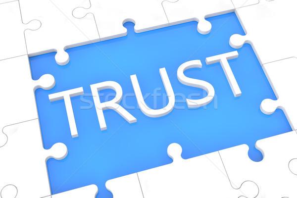 Puzzle trust concept Stock photo © Mazirama