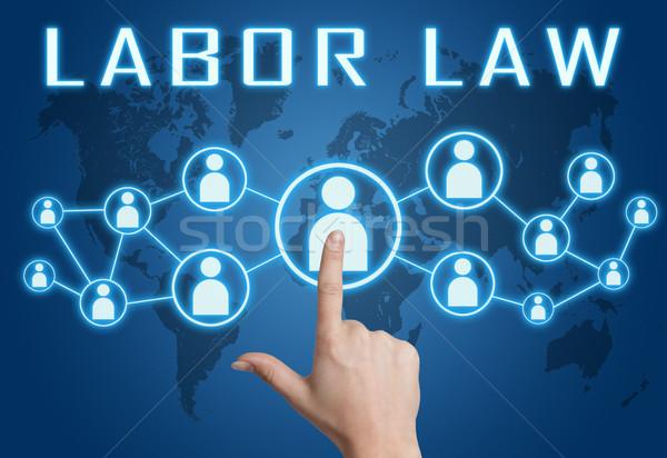Labor law text concept Stock photo © Mazirama