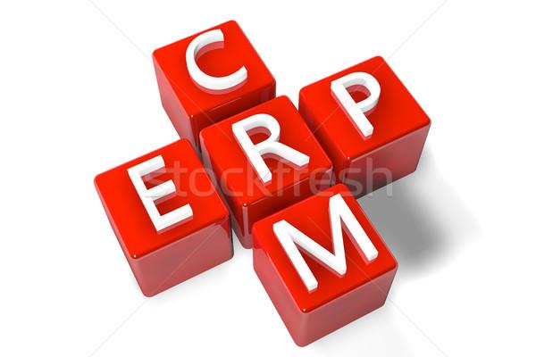Keresztrejtvény crm 3d render cég erőforrás tervez Stock fotó © Mazirama