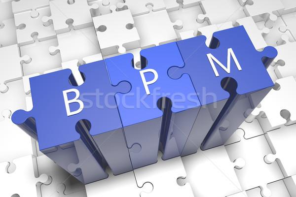 Negocios proceso gestión rompecabezas 3d ilustración Foto stock © Mazirama