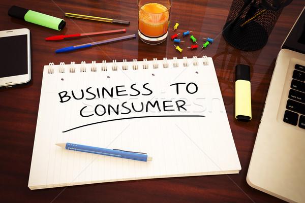 Iş tüketici metin defter büro Stok fotoğraf © Mazirama