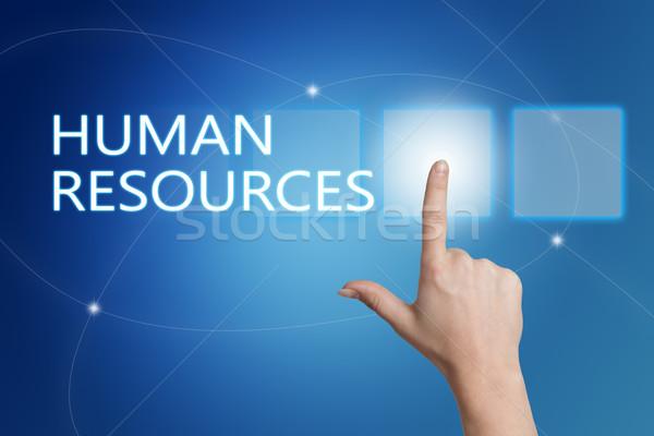 Humanismo recursos mão botão interface Foto stock © Mazirama