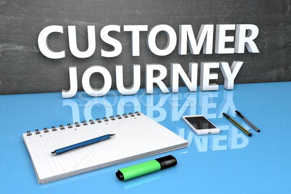 Customer Journey text concept Stock photo © Mazirama