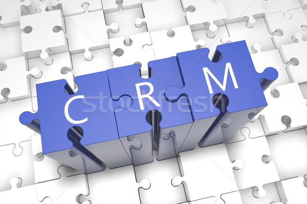 Puzzle CRM Stock photo © Mazirama