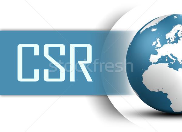 Corporate sozialen Verantwortung Welt weiß Internet Stock foto © Mazirama