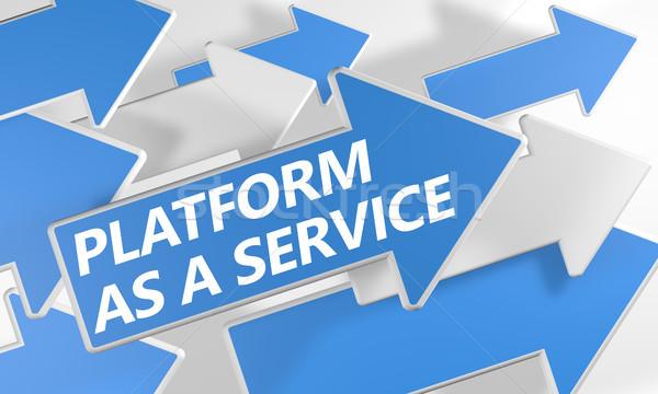 Vágány szolgáltatás 3d render kék fehér nyilak Stock fotó © Mazirama