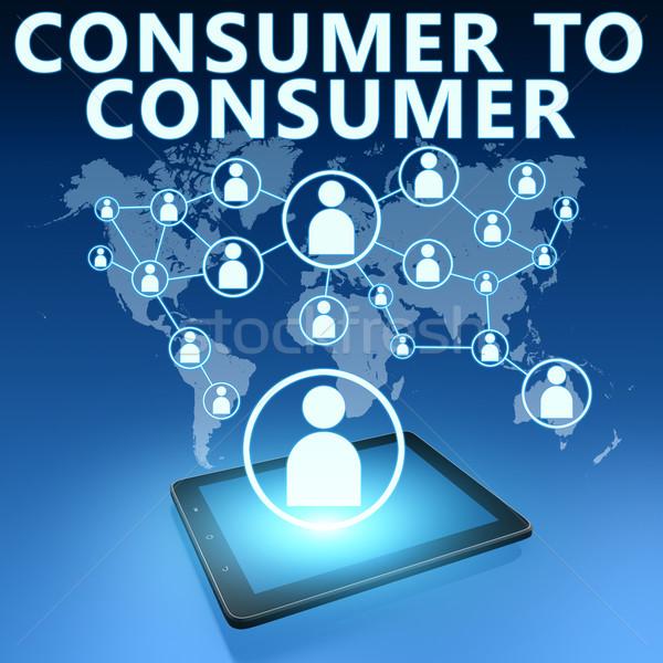 Consumatore illustrazione blu business internet Foto d'archivio © Mazirama