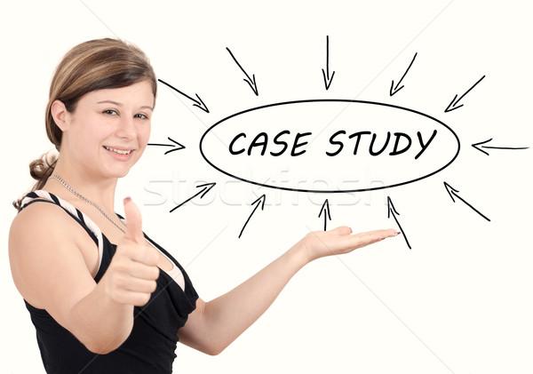 случае исследование молодые деловая женщина процесс информации Сток-фото © Mazirama
