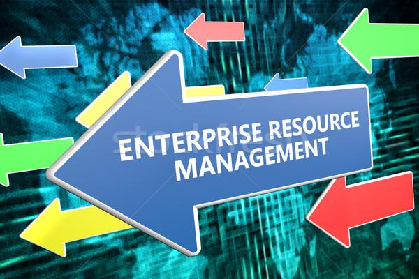 Empresa gestión texto azul flecha Foto stock © Mazirama
