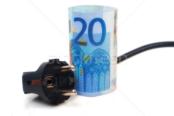 Euros plug isolé européenne Photo stock © Mazirama