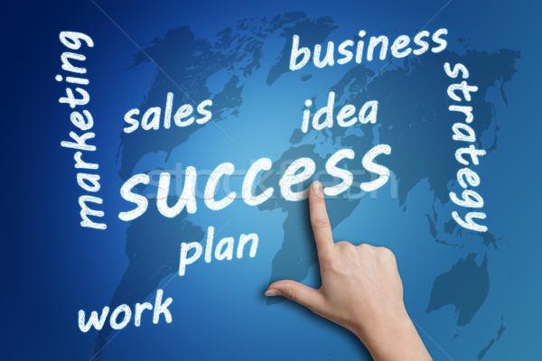 Başarı mavi para finanse Stok fotoğraf © Mazirama