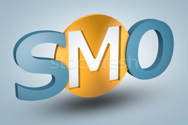 Medios de comunicación social optimización siglas azul negocios Internet Foto stock © Mazirama