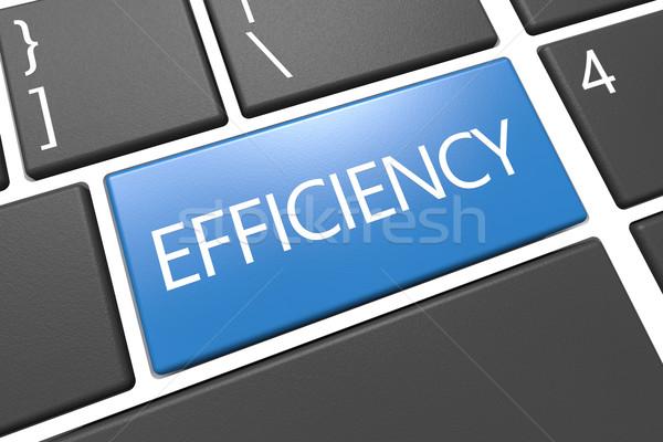 Efficienza tastiera rendering 3d illustrazione parola blu Foto d'archivio © Mazirama
