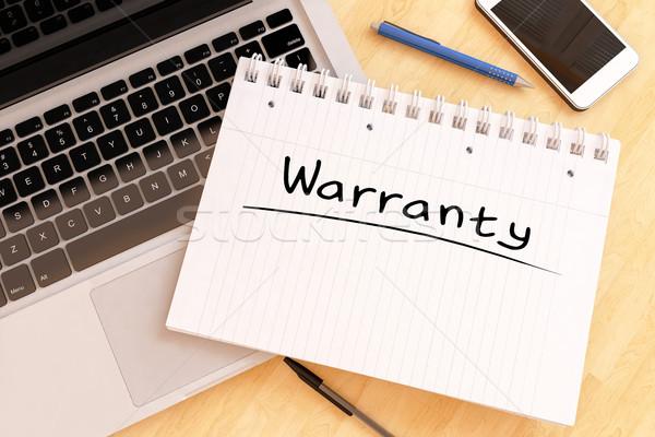 Garantie handschriftlich Text Notebook Schreibtisch 3d render Stock foto © Mazirama