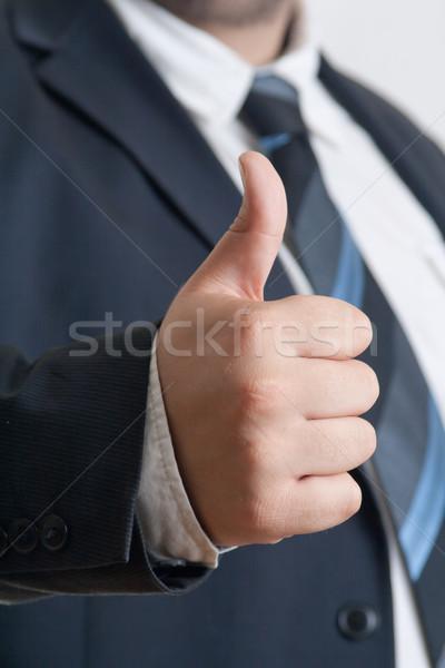 бизнесмен большой палец руки вверх жест Сток-фото © Mazirama