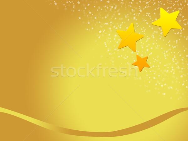 Noel kart Noel tasarımlar altın Yıldız Stok fotoğraf © Mazirama