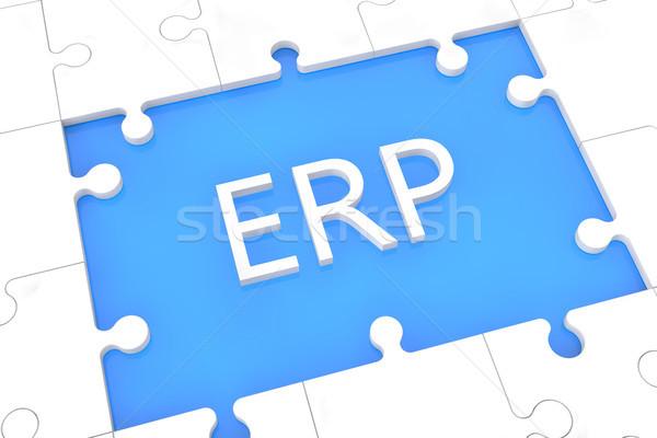 Puzzle ERP concept Stock photo © Mazirama