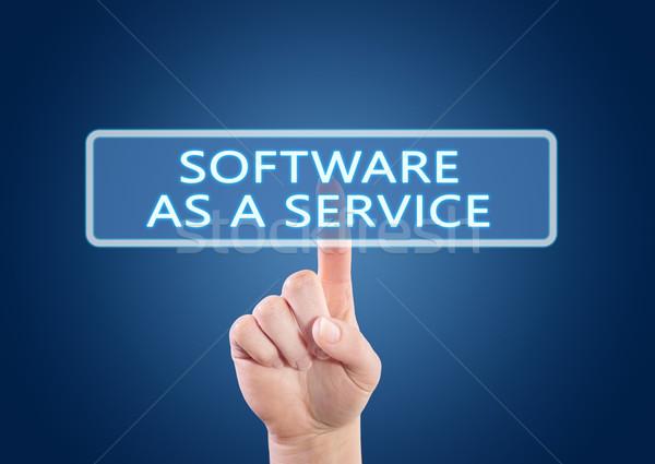 Software dienst hand knop interface Stockfoto © Mazirama