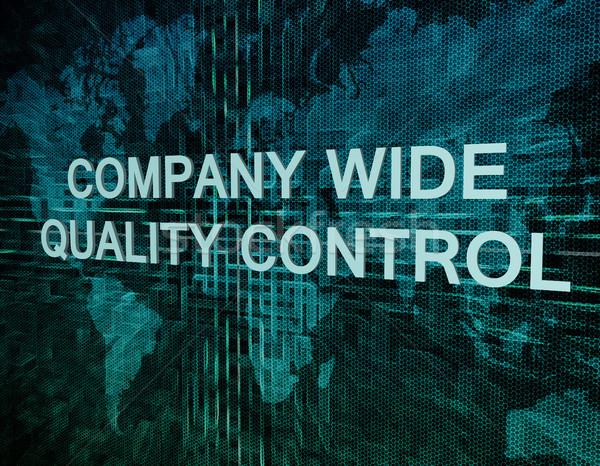 Companhia grande controle de qualidade texto verde digital Foto stock © Mazirama