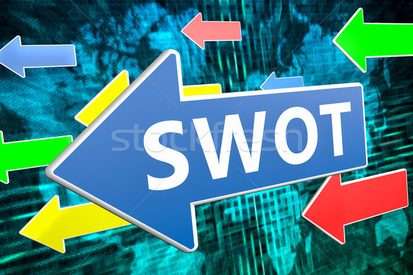 SWOT text concept Stock photo © Mazirama