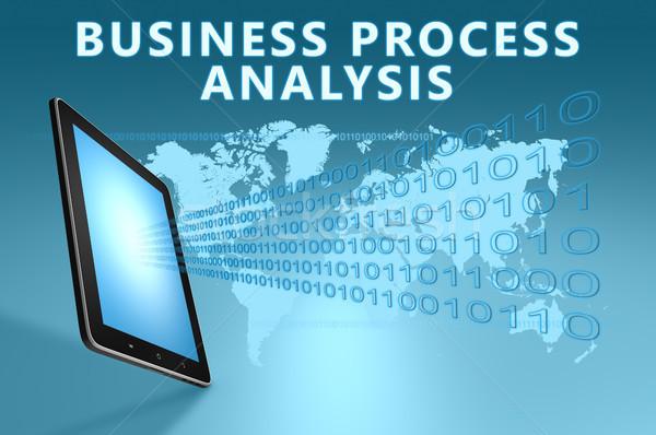 Iş süreç analiz örnek mavi Stok fotoğraf © Mazirama