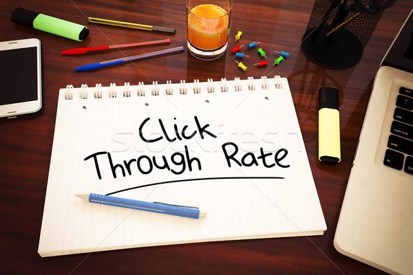 Taux texte portable bureau Photo stock © Mazirama