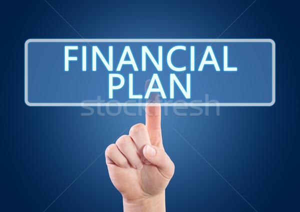 Stock fotó: Pénzügyi · terv · kéz · kisajtolás · gomb · interfész