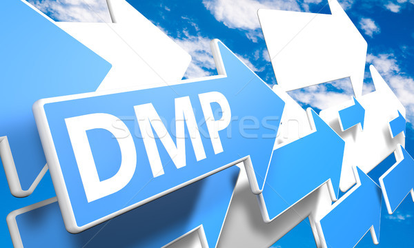 Deuda gestión plan 3d azul blanco Foto stock © Mazirama